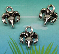 Free ship 20pcs The sheep head alloy charm pendant style restoring ancient ways