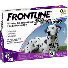 FRONTLINE PLUS For Large Dogs 45-88 lbs - 8 Month Supply New In Box EPA APPROVED