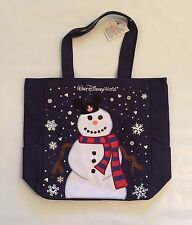 Disney Parks Walt Disney World Snowman Holiday Tote Bag Purse Mickey Mouse Ears