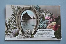 R&L Postcard: Greetings, Aristophot, Seascape, Rose, Horse Shoe