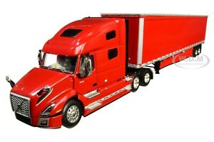 VOLVO VNL 760 W/ 53' DRY GOODS TRAILER VIPER RED 1/64 BY DCP/FIRST GEAR 60-0646