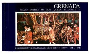 GRENADA 1977 STITCHED BOOKLET SB1 SILVER JUBILEE QUEEN ELIZABETH II CTO FDI CDS