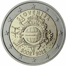 2 EURO SLOVENIE 2012 10 ANS EURO FIDUCIAIRE COMMEMORATIVE UNC