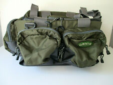 Orvis Multi-Pocket Tackle Bag with Shoulder Strap Green Nylon NEW / NEVER USED
