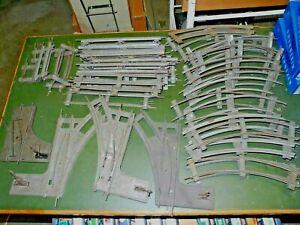 Spur 0 Blech-Weichen und Gleise, fast alles von Märklin