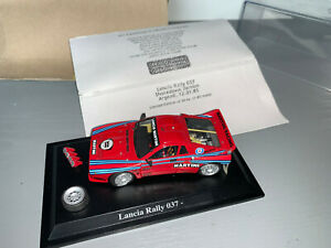 RALLY 1/43 RACING 43 MARTINI LANCIA RALLYE 037 TEST CAR DIORAMA LIMITED 1/50 RAR