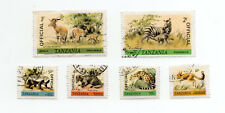 TANZANIA 1980-85 WILDLIFE Issue OVERPRINT 'OFFICIAL' Part Set 6 values.