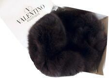 "BEAUTIFUL VALENTINO NWT $1885 CHOCOLATE ""FOX FUR"" MUFF"