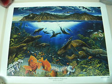 Robert Lyn Nelson Avalon's Offshore Playground LE Lithograph Signed Numbered
