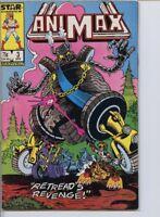 Animax 1986 series # 3 very fine comic book