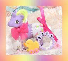 ❤️My Little Pony MLP G1 Vtg Baby Fancy Pants Baby Glider Unicorn Original Bow❤️