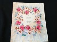 #766 Gorgeous Vintage Birthday Greeting Card 1940s Glittered Orchids Pearl Emb