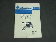 Quasar VK744XE Color Video Camera OWNERS MANUAL