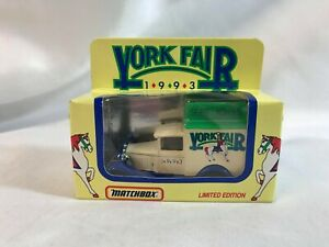 York Fair Limited Edition 1993 Matchbox Delivery Truck Sept 10th - 18th