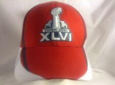 Super Bowl 46 2012 NFL Team Apparel Indianapolis Reebok Red/White Cap Size S/M