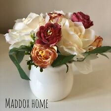 Artificial Rose Flowers with Matching Vase