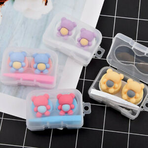 Travel Portable Cute Bear Mini Storage Contact Lens Case Container Holder Box
