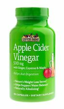 Country Farms Apple Cider Vinegar Capsules, with Ginger, Cayenne and Mapl... New