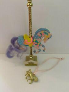 1989 Vintage Matchbox Carousel Horse RIBBON Fashion Parade Glitter w charm