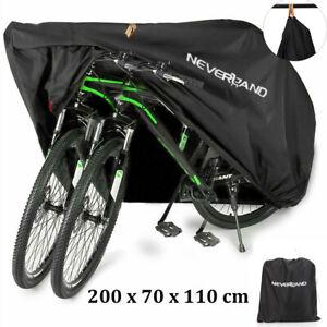 Heavy Duty Mountain Bike Bicycle Cover Waterproof Rain UV Protection for 2 Bikes