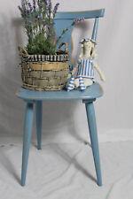 DEKO Küchenstuhl/Holzstuhl/Holz-Stuhl/Bauernstuhl blau  Vintage Shabby-Chic
