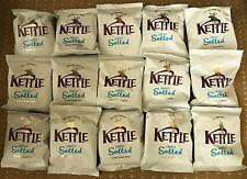 Kettle Chips Crisps Bags 30g x 15 Lightly Salted Handmade - FREEPOST