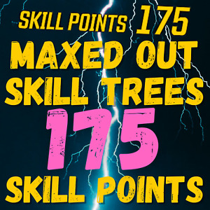 (PC XBOX ONLY) - MAXED OUT SKILL TREES! - 175 SKILL POINTS