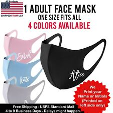 Your Name/Initial Face Mask Personalized Fashion Washable Reusable Adult mask