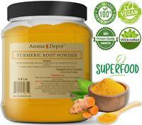 Turmeric Root Powder 2.5 lb 100% Pure Curcuma longa Yellow Tumeric 40 oz JAR