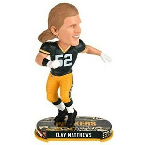 Clay Matthews Green Bay Packers Bobblehead Forever Collectibles NFL FOCO NIB GB