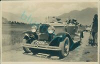 1930's india Large Luxury Car On Track North West Frontier 5 x 3.5 inches