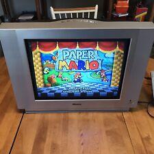 20 Inch STEREO Flat CRT TV Svideo S-video Svhs Rear AV Input RETRO GAMING N64