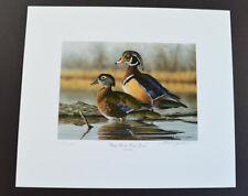 "Richard Clifton ""Misty Marsh Wood Ducks"" 179 / 2000 Signed Print  (9072C)"