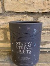 Restoration Hardware Starry String Lights Silver 10 ft Christmas Lights NEW