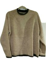 Vintage Unisex Aeropostale Wool Crew Neck Pullover Sweater Beige/Tan Size Small