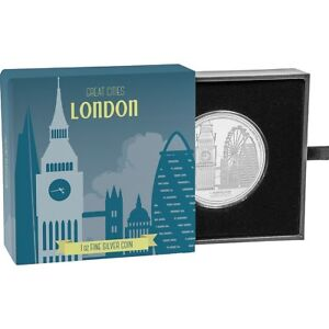 2017 Great Cities - London 1 oz. Silver Proof $2 Coin W/OGP