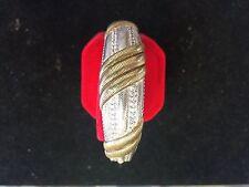Judith Ripka, 925 Sterling Silver,Bangle Hinged Cuff Bracelet, Cubic Zirconia
