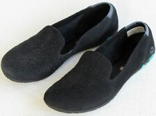 8 | Merrell Mimix Daze Women Black Perfed Nubuck Leather Slip On Flat Loafer Moc