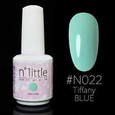 n.1ittle 15ml Nail Art Soak Off Color UV LED Gel Polish - N022 Tiffany Blue