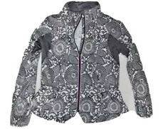 LULULEMON Run Travel To Track Jacket size 4 Beachy Floral White Fossil Running