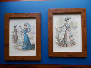 PERIOD COSTUMES X 2 FRAMED