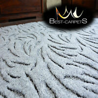 VERY THICK Runner exclusive Rugs IVANO grey 30 SIZES modern carpeting
