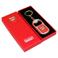 ARSENAL FC BOTTLE OPENER KEYRINGS WITH TORCH KEY RING KEYCHAIN XMAS GIFT NEW