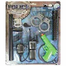 Childs Police Boys Girls Fancy Dress up Costume Prop Toy Play Accessory Kit