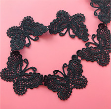 NEW Black/White Butterfly Lace Edge Trim Ribbon Applique Sewing Wedding Crafts