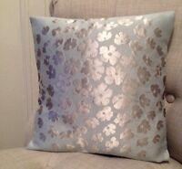 "12"" cushion cover in Laura Ashley Coco duck egg & Silk Reverse fabric"