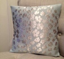 "12"" cushion cover in Laura Ashley Coco duck egg & Silk Reverse fabric"