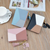 Women Mini Wallet Leather Small Clutch Coin Purse Zipper Credit Card Holder Gift