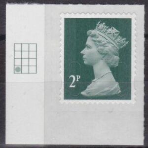 z5117) Great Britain - Machins. 2014 MNH SG u2921 2p Dark green M14L Cyl. Tab