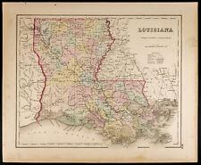 Carte ancienne [1857,Colton] : État américain de Louisiane. Map of Louisiana